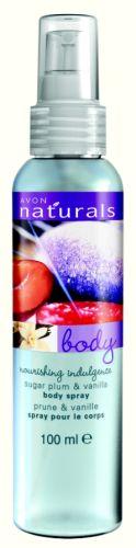 Vyživující tělový sprej se švestkou a vanilkou_TZ