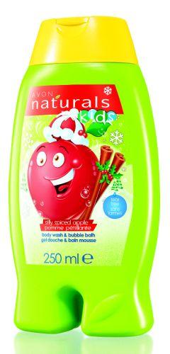 Jemný sprchový gel a pěna do koupele 2 v 1 s jablkem a kořením