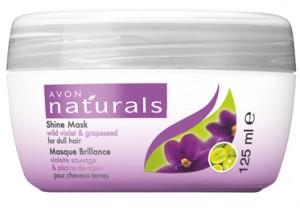 Hydratační maska s divokou fialkou a vinným semínkem pro vlasy bez lesku