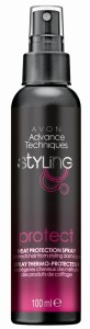 Sprej pro ochranu vlasů při tepelném stylingu