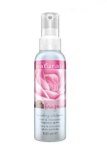 Vyživující tělový sprej s růží a čokoládou