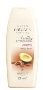 Hydratační šampon s mandlový olejem a avokádem pro suché a poškozené vlasy