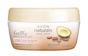 Hydratační balzám na vlasy s mandlový olejem a avokádem pro suché a poškozené vlasy