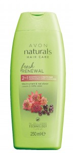 Revitalizacni sampon a kondicioner 2 v 1 s kvetem jetele a cernym rybizem pro vycerpane vlasy bez lesku