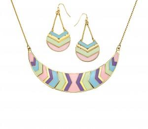 Náušnice a náhrdelník Chevron Chic